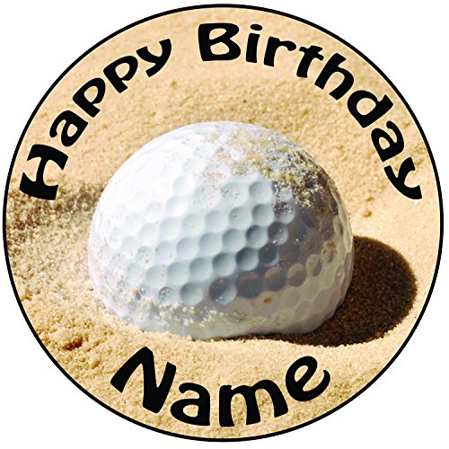 personalisierbar-golf-ball-in-sand-kuchen-topper-einem-vorgeschnittenen-rund-203-cm-20-cm-zuckerguss