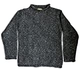 Donegal Crew Neck Pullover (Large, Charcoal)