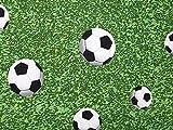 Minerva Crafts Fußball Print Baumwolle & Polyester
