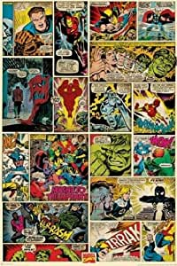 1art1 52889 Marvel Comics - Kompilation Comic Panels Poster 91 x 61 cm