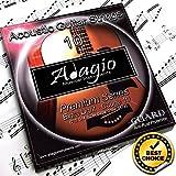 Adagio juego de cuerdas para guitarra acústica Premium (10-especifica un campo antioxidante)