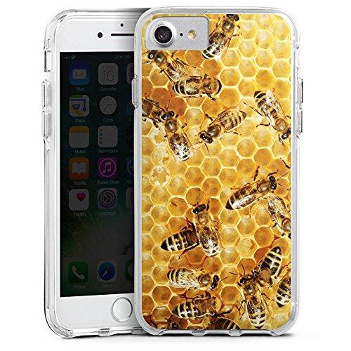 Apple iPhone 8 Bumper Hülle Bumper Case Glitzer Hülle Bienen Biene Insekten Bumper Case transparent