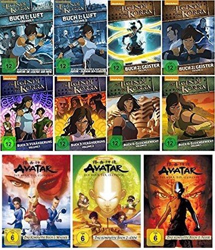Die Legende von Korra Buch 1-4 (1.1-4.2) und Avatar - Herr der Elemente 1-3 im Set - Deutsche Originalware [21 DVDs] (Korra Buch Dvd 3)