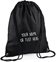 MYOG Personalised Premium Drawstring Bag PE Gym Kit School P.E Kids Sport Rucksack (22 Colours)