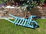 100 cm Sackkarren, Schubkarren 100 cm mit Holz - Deko HSOF-100-BLAU blau hellblau, als historische 100 cm Sackkarren usw.