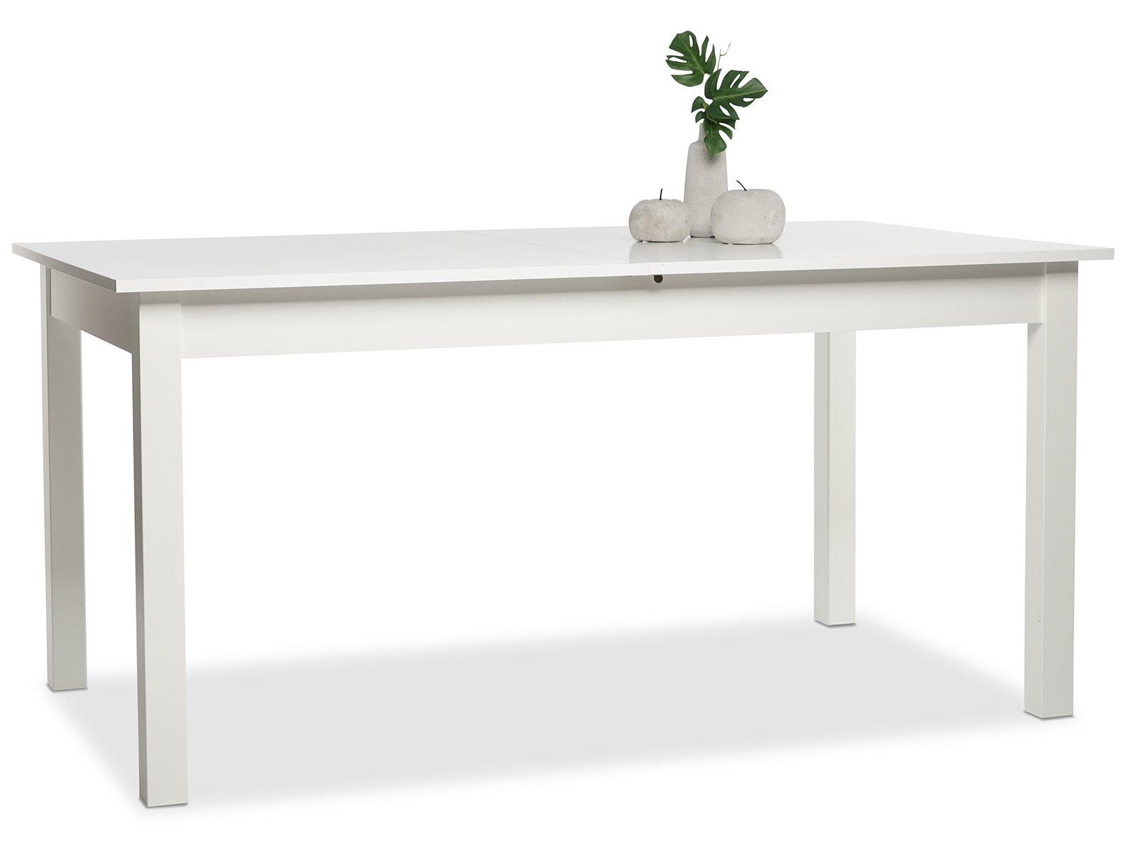 möbelando Esszimmertisch Küchentisch Auszugtisch Holztisch Esstisch Tisch Crawley IV Weiß