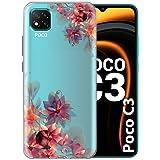 Fashionury Back Cover for Poco C3 (Silicon, TPU)