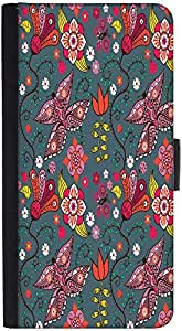 Snoogg Floral Leaves Designer Protective Phone Flip Back Case Cover For Xiaomi Redmi Note 3