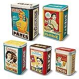 5Boîtes metalicas Vintage pour épices riz et sucre farine Pâtes 2111567071