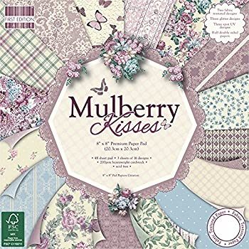 First Edition - Fogli di carta decorativa per applicazioni artistiche, da sorgenti certificate (FSC), 20 x 20 cm, motivo: Mulberry Kisses