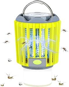 pour Camping Int/érieur et Ext/érieur BACKTURE Lampe Anti-Moustique 3 Mode Luminosit/é Lanterne Camping Anti Moucheron Rechargeable avec 2200mAh Batterie 2 en 1 Lampe Camping