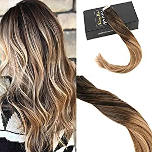 Sunny remy extensions adhesives 20pcs 24pouces tie and dye - Tie and dye brun caramel ...