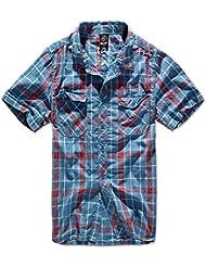 Brandit Hombres Roadstar Camisa Rojo / Azul tamaño 5XL