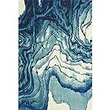 LIU UK Carpet Tappeto Stile retrò rettangolo Poliestere Semplice e Moderno Usato per Bagno/Scala/Soggiorno/atrio/Camera da Letto (Colore : A, Dimensioni : 1.8 * 2.7m)