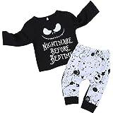 Ropa Bebe,Niños Bebés Otoño Invierno Sudaderas con Capucha Ropa Camisas Recién Nacido Niño Manga Larga Imprimir Top + Pantalo
