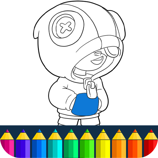 Brawl Coloring Stars Game Kids Colorging Book Cartoon Brawlers Bs Stars
