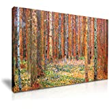"Yes Art, cuadro de Gustav Klimt de 1901, ""Tannenwald"", bosque, 76 cm x 50 cm"
