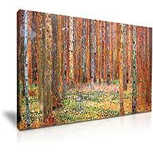 1901de cuadro Tannenwald I de Gustav Klimt bosque lienzo pared Art imagen impresión 76cmx50cm