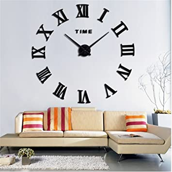 zjchao diy 3d horloge murale,horloge murale design moderne