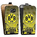 DeinDesign Samsung Galaxy S6 Tasche Hülle Flip Case BVB Muster Borussia Dortmund
