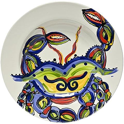 Thompson & Elm Dana Wittmann Ceramic Crab Soup/Salad Bowl, Multicolor by Thompson and Elm