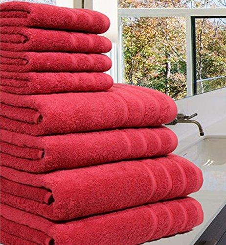 Luxueuse Serviette Bale- 100 % coton égyptien -8pièces - 550g / m² - Tailles extra-larges, Coton, Silver, 8 Pieces S