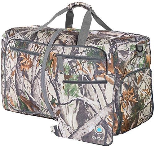 Reisetasche - diese faltbare, 85l große Reisetasche ist beständig, packbar, SUPERLEICHTE 410g mit abnehmbarem Schulterriemen - lässt sich in sich falten - am besten als Gepäck oder Sporttasche - VERMEIDEN SIE GEBÜHREN FÜR ÜBERGEPÄCK - 100% ZUFRIEDENHEITSGARANTIE Camo (Timberland Rock Split)