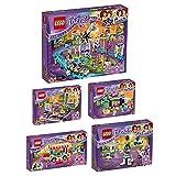 Lego Friends Freizeitpark 5er Set 41127 41128 41129 41130 41133 Spielspaß + Raketen-Karussell + Hot-Dog-Stand + Großer Freizeitpark + Autoscooter + Bowling
