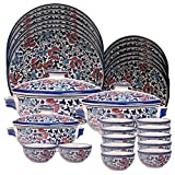 Royal Mughal Ceramic Dinner Set 27 pcs
