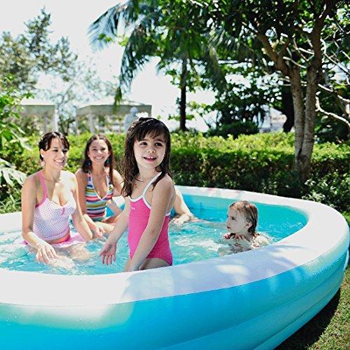 Jilong Giant Swimming Pool 345x175x48 cm Familienpool Planschbecken Kinderpool Schwimmbecken Kinder und Familien Schwimmbad für Garten und Terasse
