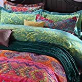 Unimall Percent Egyptian Cotton Throw Boho Style Quilted Bed Pillow Case, Set of 2
