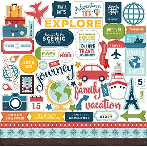 Go, See, Explore Cardstock Stickers 12