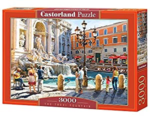Castorland The Trevi Fountain 3000 pcs Puzzle - Rompecabezas (Puzzle Rompecabezas, Ciudad, Niños y Adultos, Niño/niña, 9 año(s), Interior)