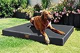 tierlando® Mobile Hundematratze HUGO BASIC | Gehobene Stabilität & Qualität! | Anti-Haar Polyester | L 100 x 80 x 13 cm | Graphit Grau - 2