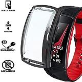 Ruentech - Custodia protettiva compatibile con Samsung Gear Fit 2 Pro, accessorio con pellicola protettiva