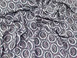 Floral Paisley Print Baumwolle Flanell Kleid Stoff pink & blau–Meterware