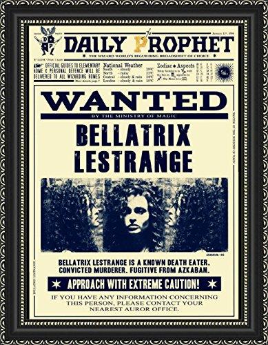Poster in pergamena a3 (29x40cm) manifesto daily prophet gazzetta del profeta harry potter bellatrix lestrange ricercata wanted