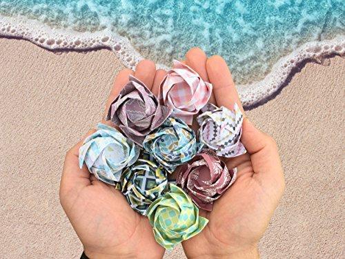 comprare on line Set carta da origami - 120 fogli - tradizionale piegatura della carta giapponese - la carta include stampe a fiori, animali, azteche, geometriche - crea fiori, gru, gufi, draghi, animali - carta da origami per bambini ed adulti prezzo