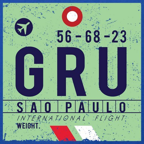 Sao Paulo Flughafen - Herren T-Shirt - 13 Farben Royalblau