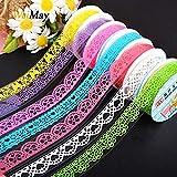 weimay cinta adhesivas pegatinas diseño de encaje multicolor pegatina bricolaje decoración...