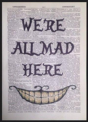 Parksmoonprints Kunstdruck Der verrückte Hutmacher aus Alice im Wunderland,We 're All Mad Here auf ()