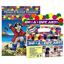 Do A Dot Art Marker Rainbow 6-pack Activity Book Gift Set - Pirates & Buried Treasures by Do A Dot Art