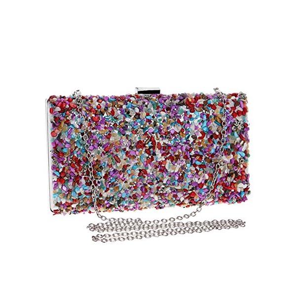 61mdIQAu1eL. SS600  - Kentop Bolsas de Embrague para Mujer con Piedra Incrustada Coloreado Bolso de Noche para Boda Partido Fiesta