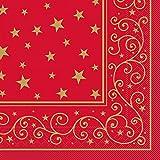 Sovie HORECA Tissue-Serviette Liam 33x33 cm / saugstarke und hochwertige Einweg-Servietten / ideal für Weihnachten (Rot)