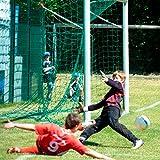 Jugend - Fußballtornetz 5,15 x 2,05 m Tiefe oben 1,00 / unten 1,00 m, PE 4 mm ø, grün