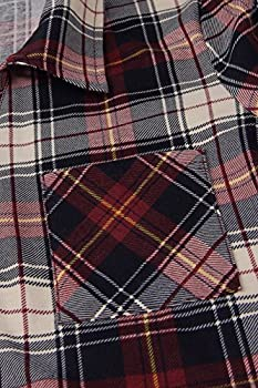 Youtalia T-shirt Dress Women, Juniors Checkered Mini Dress Classical V Neck Comfy Loose Fitting Blouse & Tops,red Black Xxl 3