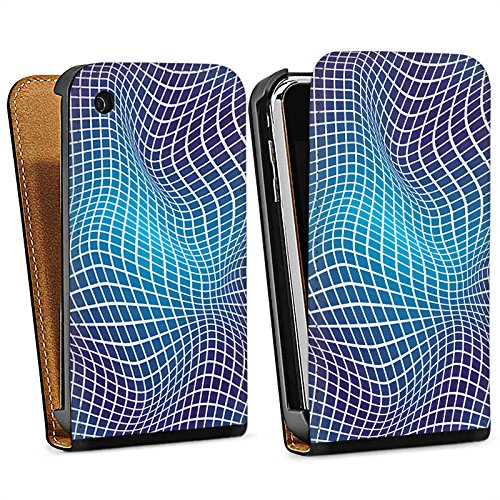 Apple iPhone 4 Housse Étui Silicone Coque Protection Déformation Dimension Effet d'optique Sac Downflip noir