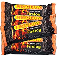 15 X Flamefast Fireglow Instant Lighting FireLogs Burn for Over 2 Hours for an Instant Log Effect Fire and Tigerbox Safety Matches