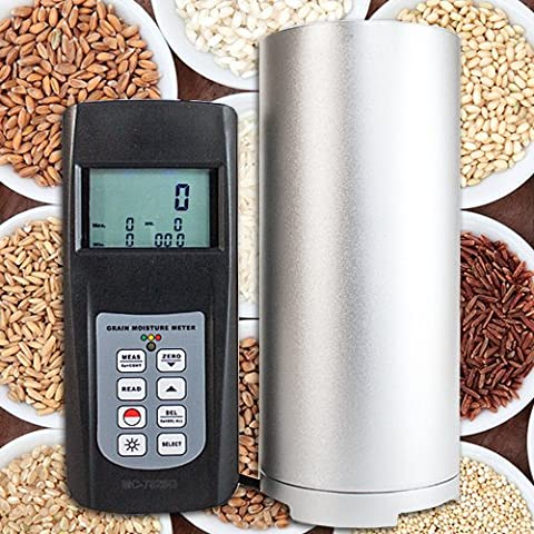 Moisture measuring instrument device meter (grain, feed, food) corn/soya hay/straw coffee/rice F01