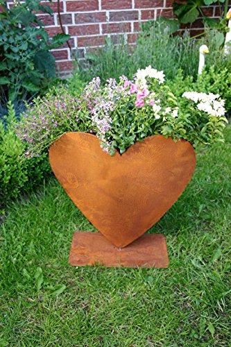 Herz zum bepflanzen rost gartendeko edelrost for Rostige herzen gartendeko